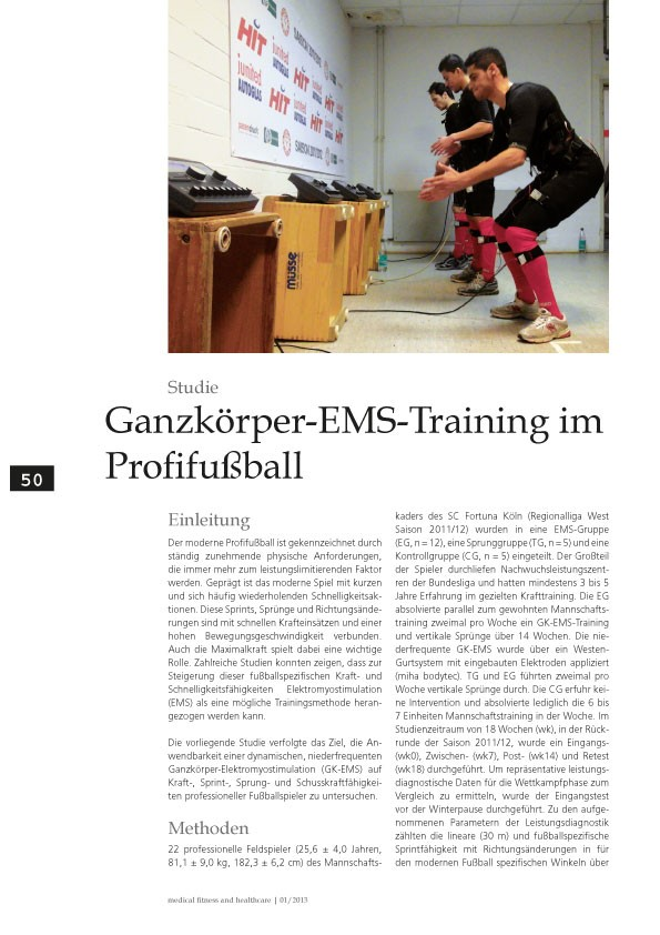 EMS Training im Fussball