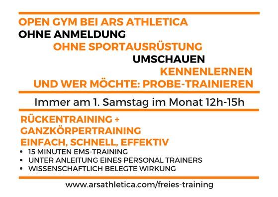 Freier Zugang und freies EMS Training